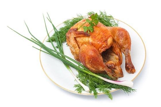 Курица, запеченная в сметане