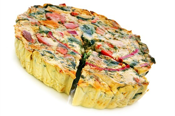 Овощной пирог с фасолью