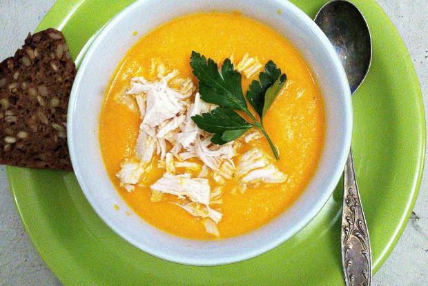 Морковный суп с мандаринами