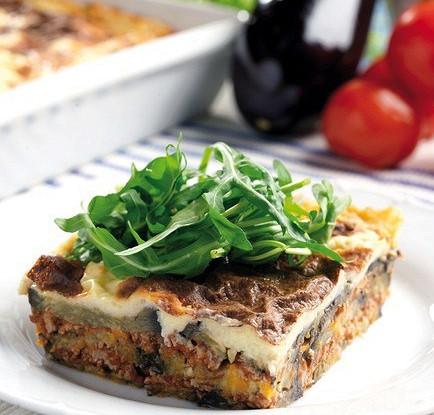 Пирог из баклажанов и мяса