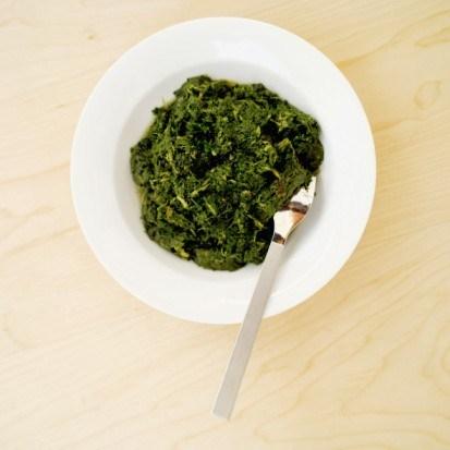 Салат со шпинатом и хидзики