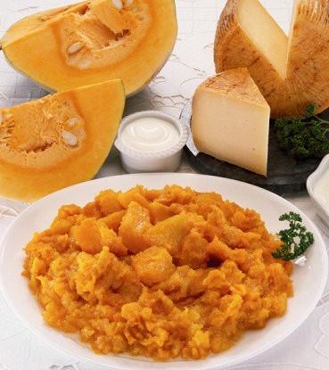 Сливочный сыр с тыквой и яблоками