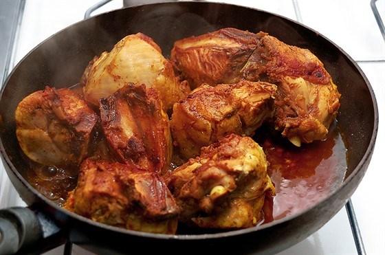 Жареная маринованная курица по-японски