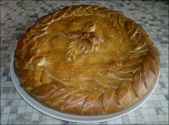 Капустный пирог на дрожжевом тесте