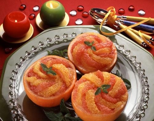 Цитрусовый салат с анисовым сиропом