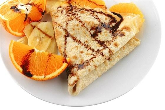Апельсиново-шоколадные блины