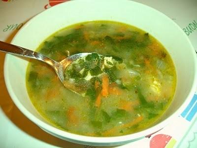 Суп из шпината «Турецкий»