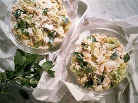 Салат из курицы с мятой