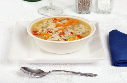 Суп с кроликом и рисом карнароли