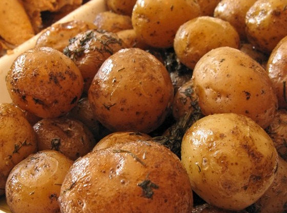 Картофель с шафраном