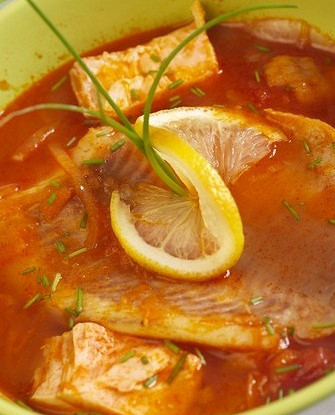 Рыбный суп из макрели по-африкански