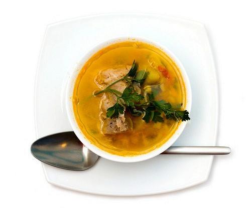 Суп бозартма из баранины с луком и зеленью