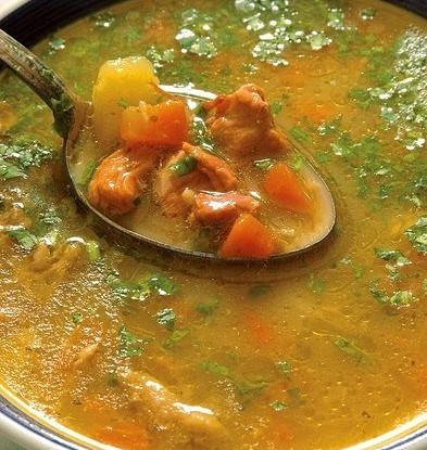 Суп из баранины «Пити» с шафраном и мятой