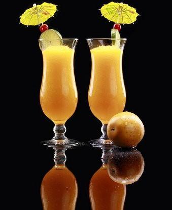 Апельсиновый пунш с маракуйей и личи