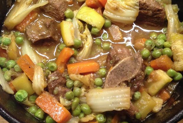 Баранина тушеная, с овощами
