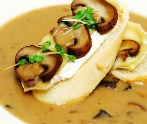 Грибной крем-суп с вином