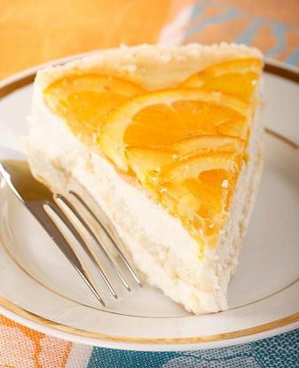 Быстрый творожно-апельсиновый пирог