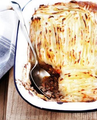 Картофельный пирог с курицей и сыром