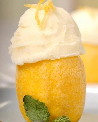 Лимонный шербет по-итальянски