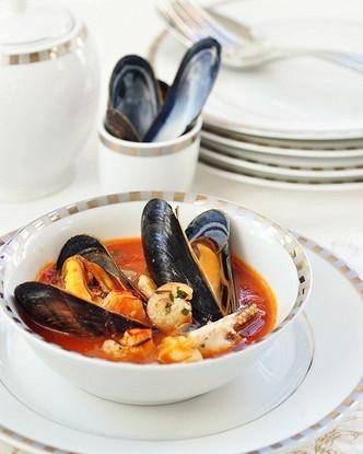 Суп из морепродуктов в триестском стиле