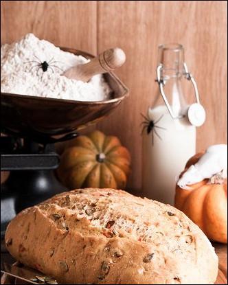 Кукурузный хлеб с тыквой и чили