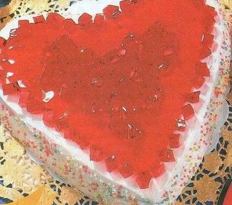 Торт-серце с желе