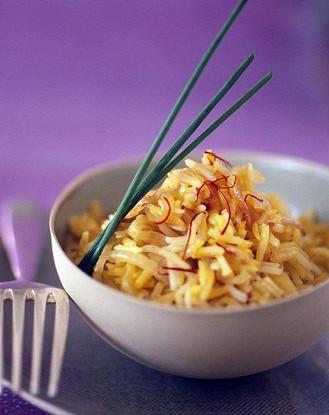 Рис с морковью, лимоном и мятой