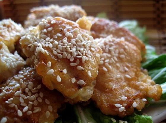Курица в китайском кисло-сладком соусе