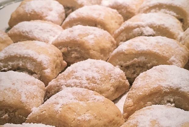 Турецкое печенье с тахини и грецкими орехами