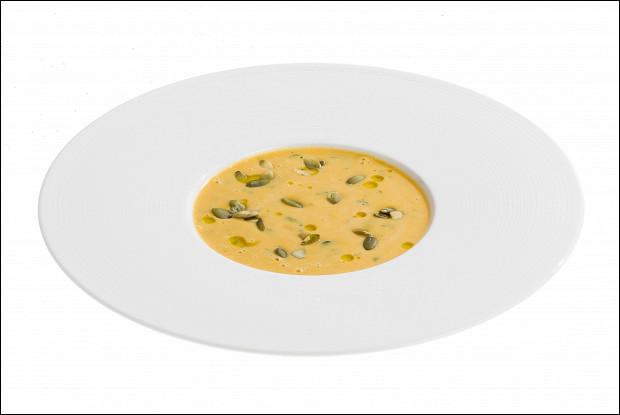 Ароматный крем-суп из тыквы с семечками