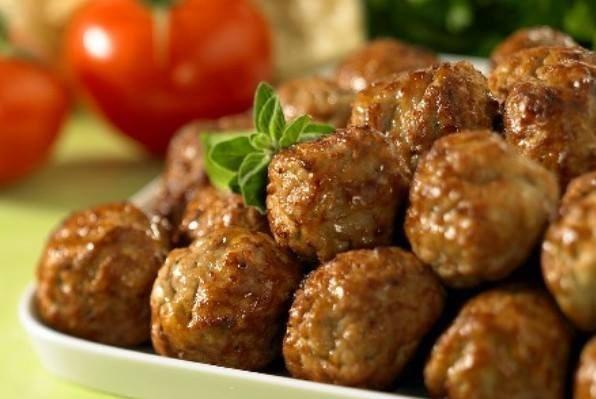 Шарики из говядины жареные с овощами  по-армянски