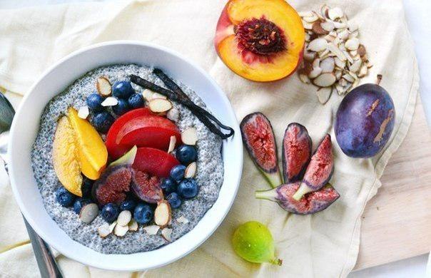 Ванильно-ореховый чиа завтрак