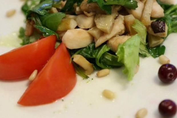 салат курица с белыми грибами рецепт