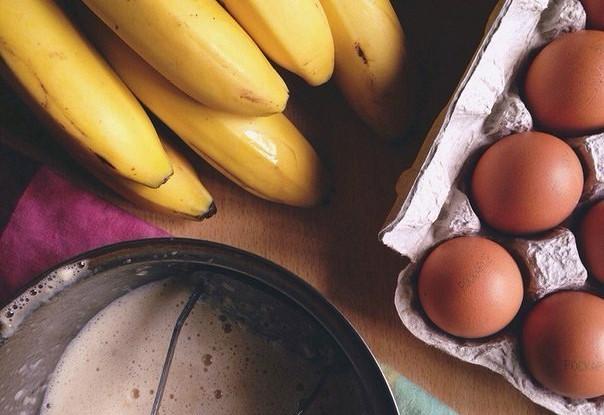 Быстрые банановые оладьи