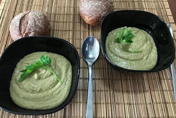 Овощной суп с зеленым карри