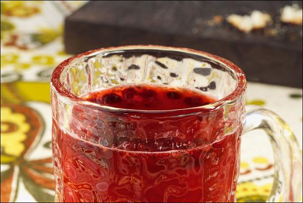 Клюквенно-малиновый чай