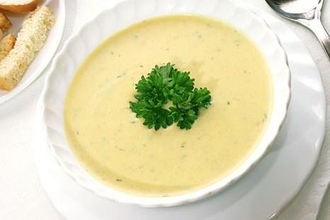 Нежный куриный суп-пюре с сыром