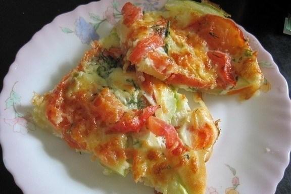 Запеченные в молочном соусе овощи