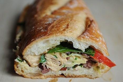 Сэндвич с тунцом, артишоками и паприкой