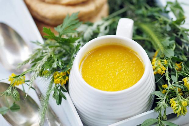 Суп-пюре с запеченной желтой паприкой