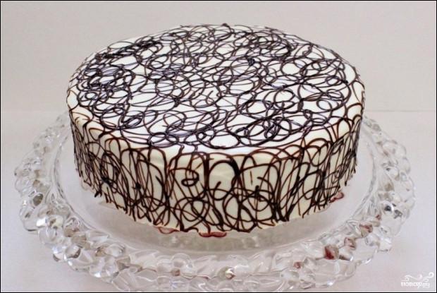 Торт «Дамские пальчики» со сгущенным молоком