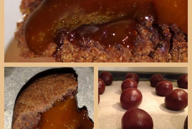 Шоколадные печенья с ирисками