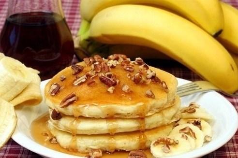 Банановые оладьи с кефиром