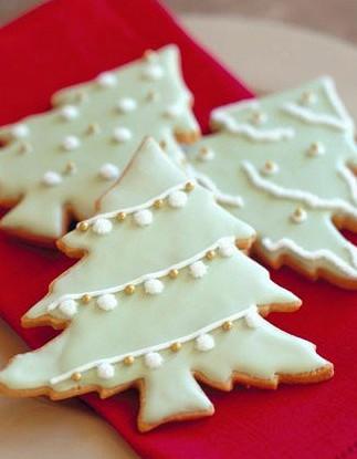 Рождественское ванильное печенье в сахарной глазури