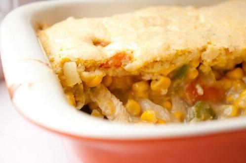 Запеченный картофель с кукурузой и курицей