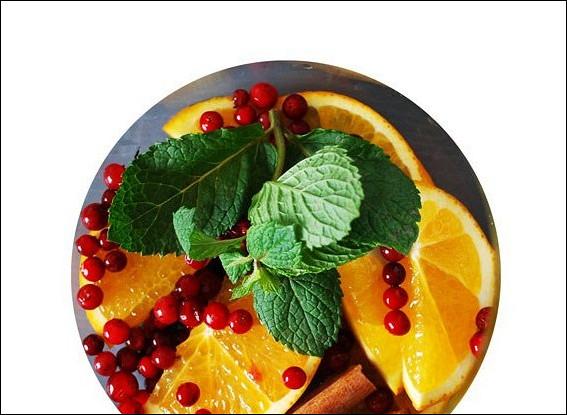 Согревающий чай с апельсином и корицей