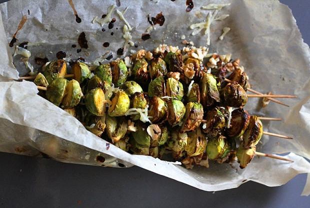 Кебаб из брюссельской капусты