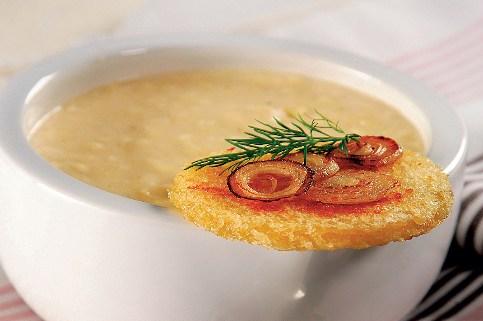 Сырный крем-суп с гренками