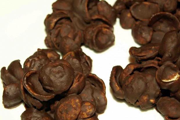 Песочные шоколадные розы