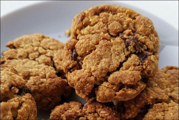 Овсяное безглютеновое печенье с шоколадом